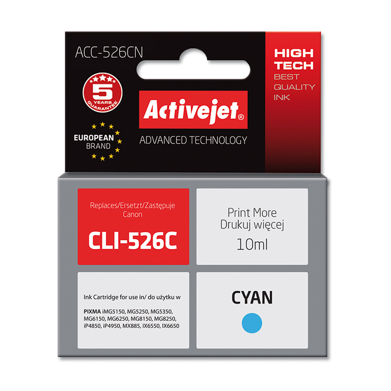 Activejet INK pentru Canon CLI-526C new ACC-526CN