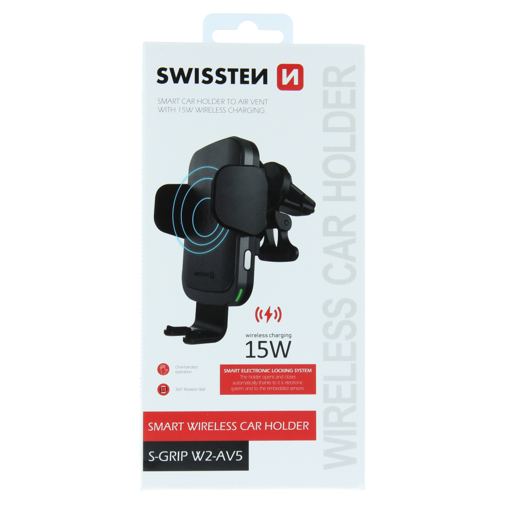 Suport auto wireless pentru smartphone S-GRIP SWISSTEN